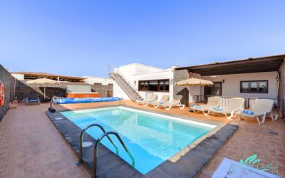 Photo for Villa Stephanie sleeps 8 Jacuzzi private pool enclosed garden 20 mins to beach