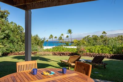 Ocean views from the expansive yard and lanai