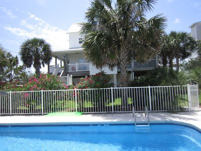 Photo for Custom 2400sqft Home,30 steps to beach,Pool, Elevator, Screen Porch,Pets Yes