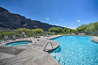 When the weather warms up, take a refreshing dip in the community pool.