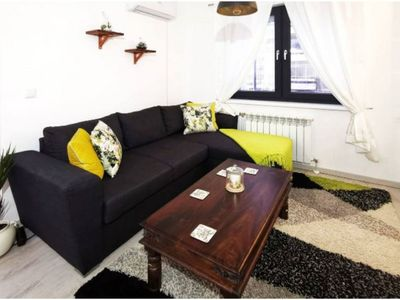 Photo for Cosy and Bright Apartment with Huge Terrace, Centre of Plovdiv!