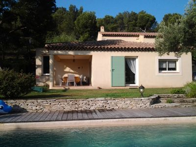 Photo for Beautiful Mediterranean villa Quiet under the pines with pool near the beach