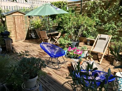 Photo for Apartment with garden terrace near Eiffel Tower 4 persons