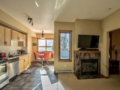 Photo for Luxury One Bedroom Condo in Town of Canmore (Mountain View & Outdoor Pool)