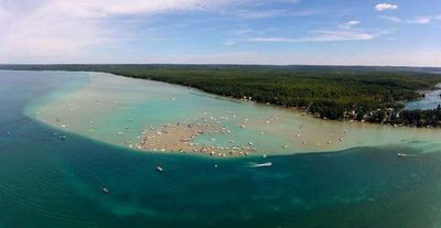 Arial view of South end of Torch Lake.