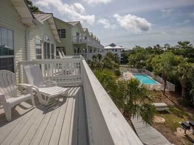 Photo for Relaxing Townhouse w/ Beach Views! Steps to Pool, Hot Tub, Near Beach Access!