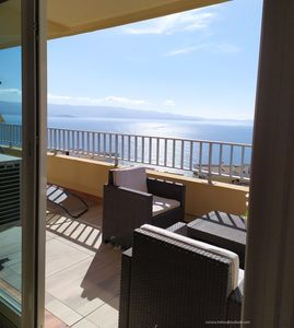 Photo for Nice T2 residence of the AJACCIO islands, exceptional view of the sea and sanguinary islands