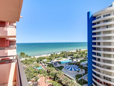 Photo for Oceanfront loft-style condo w/ direct beach access & two pools!