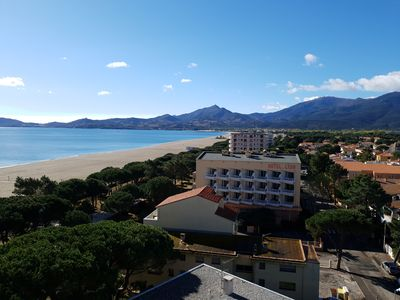 Photo for Sea front apartment with amazing sea and mountain views!