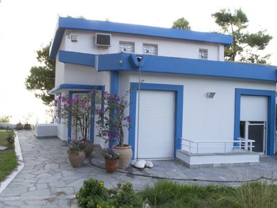 """Photo for Sani beach """"gallery"""" villa for up to 10 guests"""