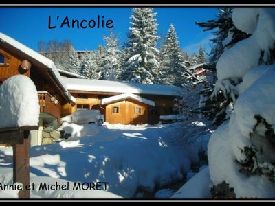 Photo for L'Ancolie, half-chalet near the start of the slopes and the resort center