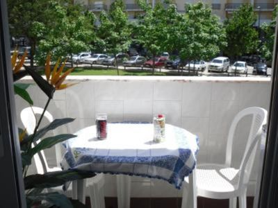 Photo for Large air-conditioned studio with balcony 300m from the beach