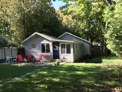Photo for Comfortable cottage in a wooded setting near Crystal Lake for up to six people.