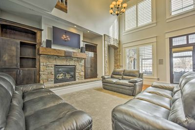 Luxury flourishes throughout 4,400 square feet of living space.