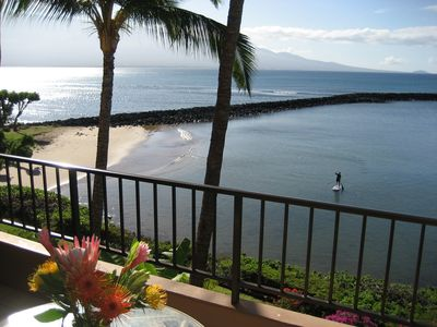Photo for Spectacular View, Oceanfront,Maui, Extra Large Lanai, Free Wifi,AirConditioning