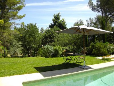 Photo for In the countryside of Aix, charming cottage nestled in a generous nature