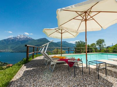 Photo for » with roof terrace and a stunning lake and mountain views » modern and comfortable in an idyllic rural hillside location » with pool