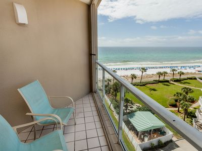 Photo for Beachfront studio w/ a private balcony, shared pool, pool spa, & gym