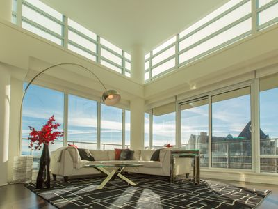 Photo for Large 1500 Sq Ft Luxury Condo with Olympic and Harbour Views, AC and Pool