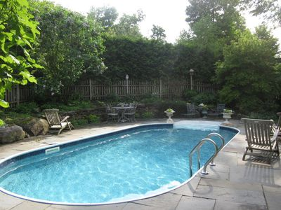 Outdoor Pool open mid May to mid Sept., weather depending.