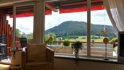 Photo for Let your mind wander in the Northern Black Forest with a sensational panorama of the Murgtal ...