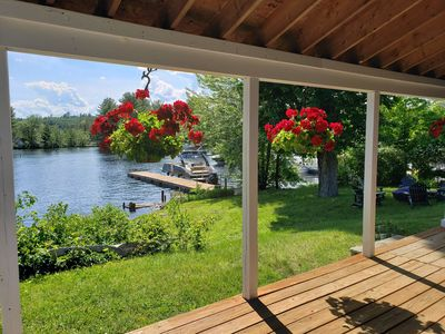 Photo for Long Lake; direct waterfront; in-town setting; 2,000 Sq Ft; sleeps 10