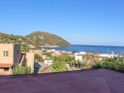 Photo for Classic apartment w/ large terrace & sea/valley views - walk to town/ferries!