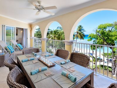 Photo for Modern Beachfront Condo with Pool - Sapphire Beach 311