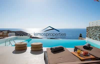 Photo for Luxury waterfront villa with a swimming pool and direct access to the sea