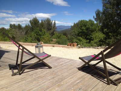 Photo for Beautiful villa with stunning views over the Luberon,