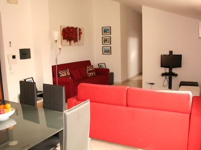 Photo for Penthouse Apartment, large balcony, close to the beach, shared large pool.