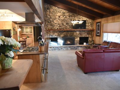 Photo for Spacious Creekside Retreat - Two Fireplaces, close to skiing and lake