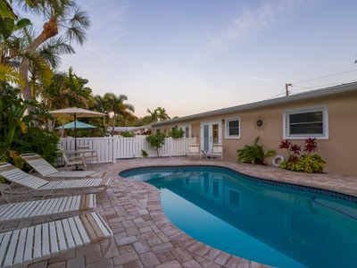 Photo for Cozy island villa w/ private pool, tranquil courtyard & easy beach access!