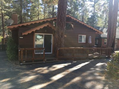 Photo for LOCATION IS KEY..  Rustic Cabin, Quiet Area, Hot Tub, Wi-Fi. And More!!!