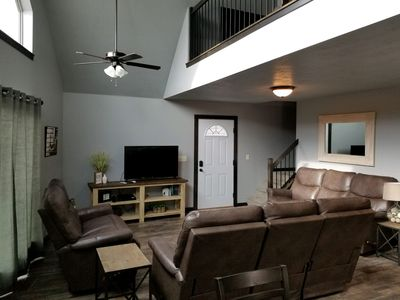 Living area with plenty of seating available.