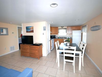 Photo for Cozy 2-bedroom condo located downtown on the bayside with free WiFi and just a couple blocks to the beach and boardwalk!