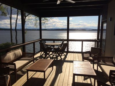 Photo for 4 BR Burlington Lakefront Home with Mountain Views and Private Lake Access!
