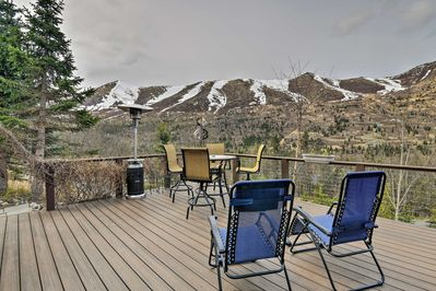 Sink into your chair on the deck of this vacation rental with room for 6!