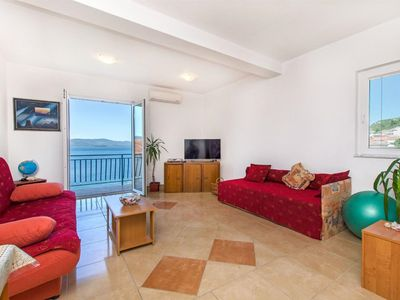 Photo for Seaside self catering Apartment with great Sea View Komarna Riviera Dubrovnik
