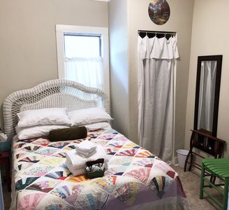 Photo for Guest room with full bed and breakfast in the Crooked House Gentry AR