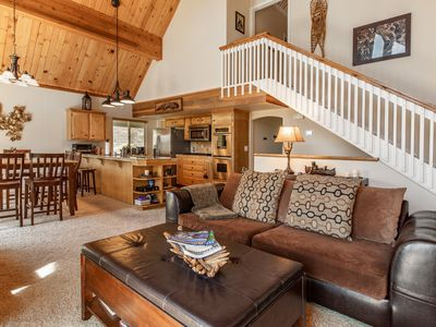 Photo for Cedar Stone Lodge - Charming family home close to the lake