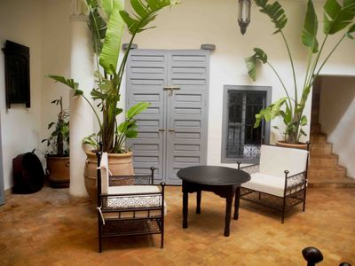relax in our peaceful patio