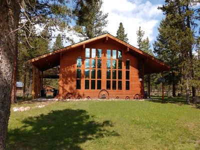 Photo for Large Montana Cabin Sleeps 12 | Gourmet Kitchen | Hot tub | Pets Welcome!