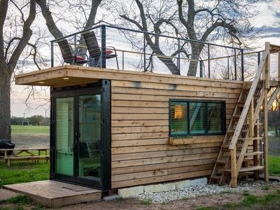 """Photo for """"Stillwater House"""" Tiny Container Home 12 min to Downtown/Magnolia"""