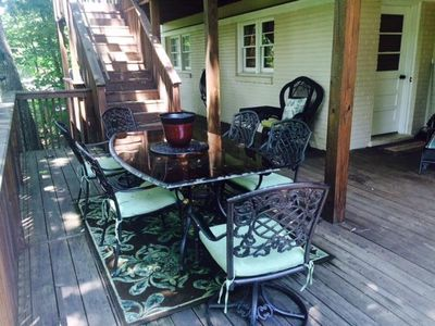 Lower Back Deck with Gas Grill