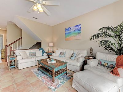 Photo for Spacious home with private heated pool only a short distance from the beach!