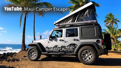 Jeep Wrangler 4x4 Pop-Up Camper-The newest, most capable camper vehicle on  Maui! - Kahului