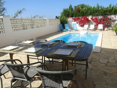 Photo for Detached villa, private pool and internet within 5 minutes walk to the beach
