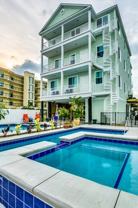 My Myrtle Beach Retreat offers a great oceanview and 3 floors of spacious living