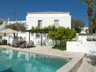 Photo for Traditional Charming House With Pool in Spetses Village - 50m from the Sea